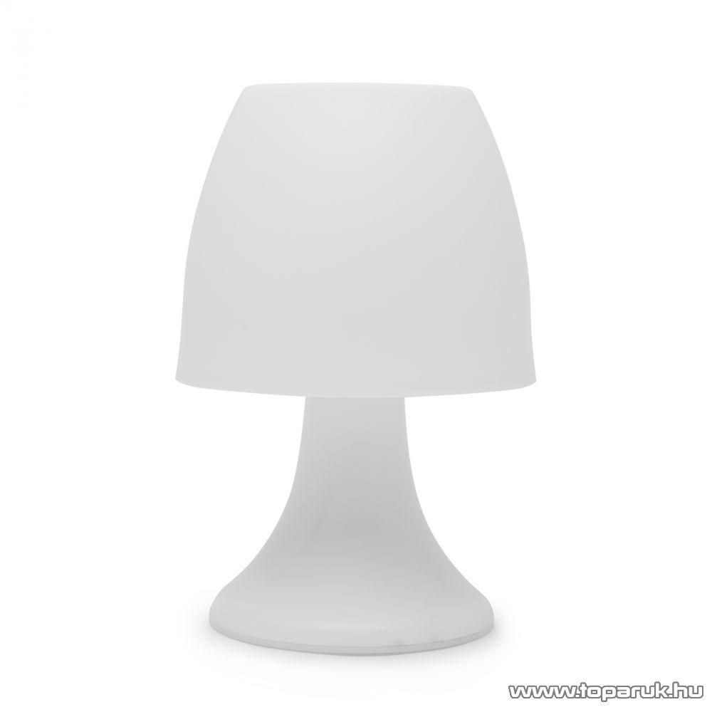 delight 11439 LED-es szolár asztali, éjjeli lámpa, fehér