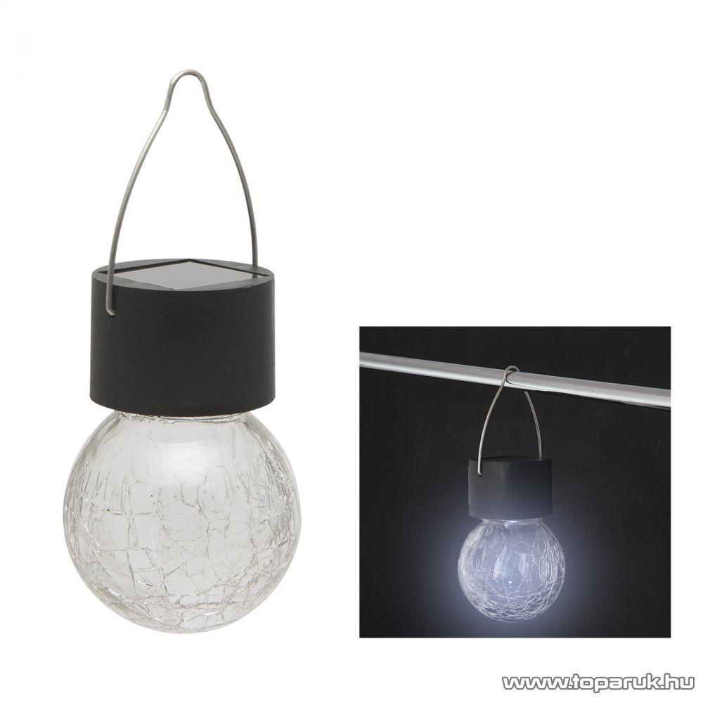 Szolár akasztható napelemes kerti lámpa, kristály, 9 cm (11448) - készlethiány