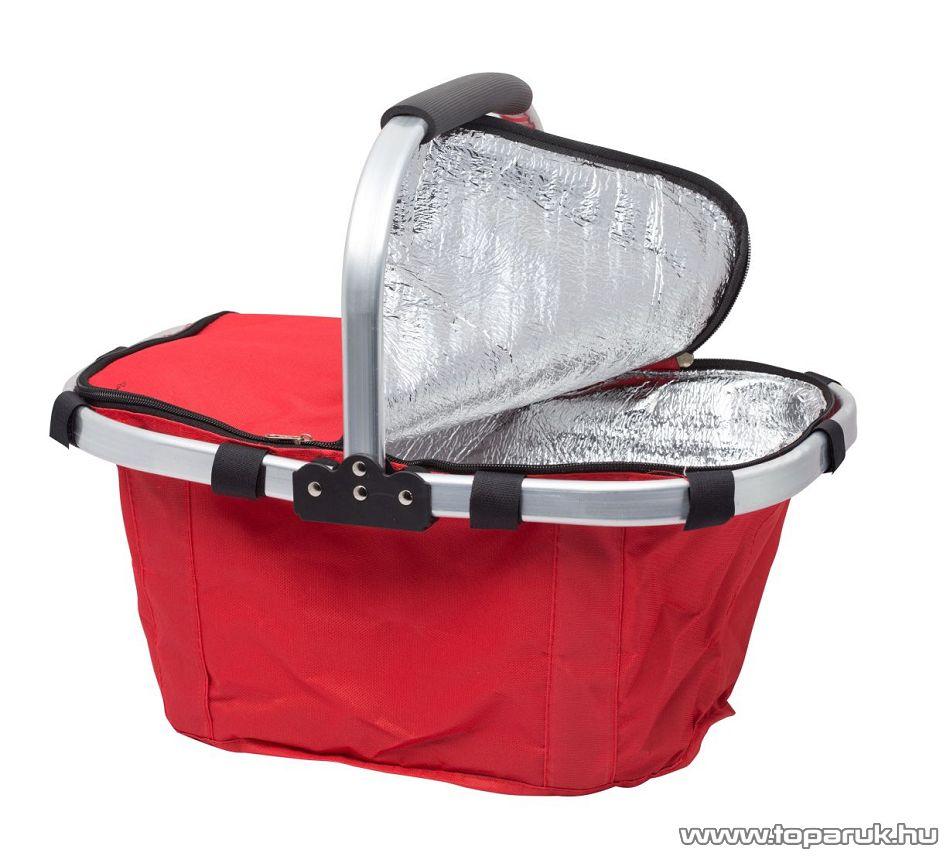 Összehajtható hőtartó bevásárlókosár, piros (11541RD)