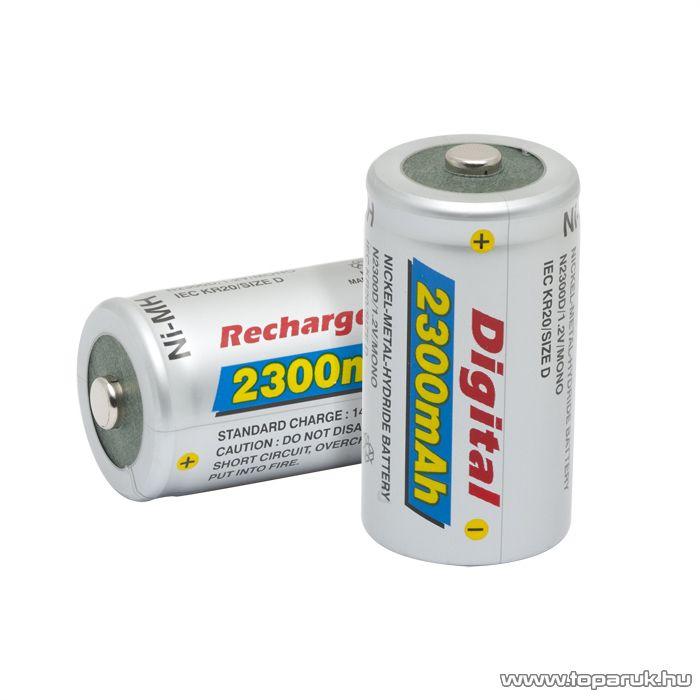 Digital Góliát akkumulátor (D méret), KR20, Ni-MH, 1,2 V, 2300 mAh, 2 db / csomag (18517V)