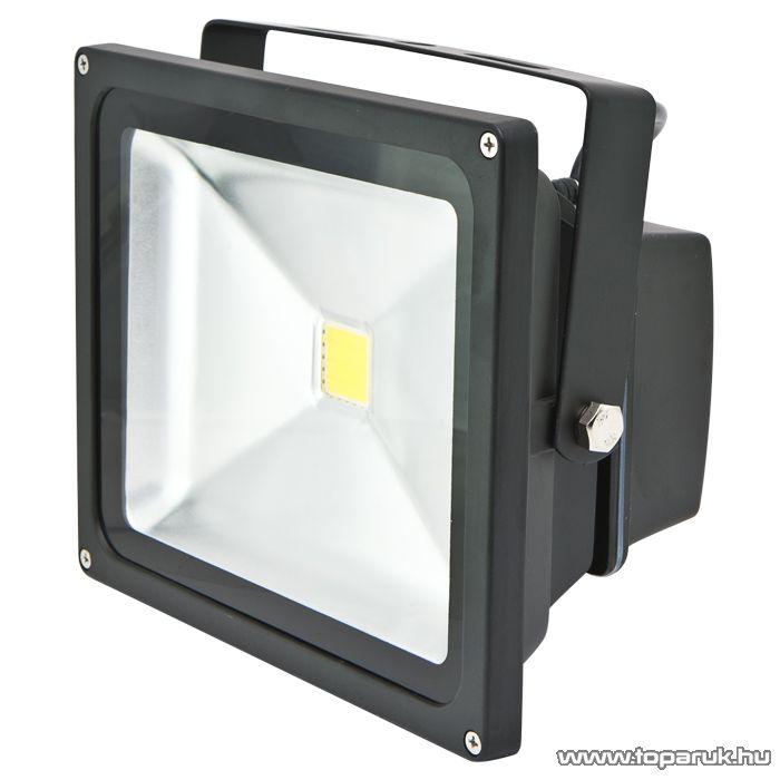 LED-es reflektor, 30W, 230V, IP65, 4000 K, fekete (18644)