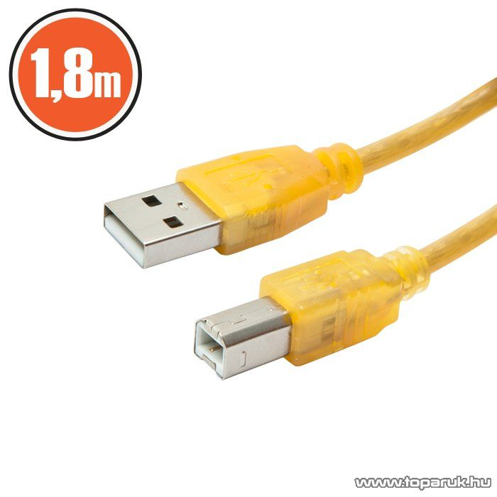 delight USB nyomtató kábel 2.0 A dugó - B dugó, 1,8 m (20168)
