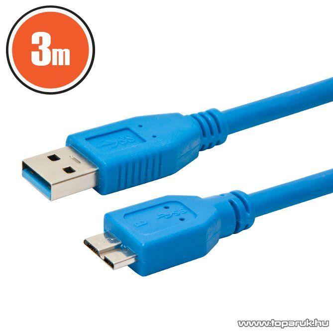 delight USB kábel 3.0 A dugó - B dugó (micro) 3 m (20312)