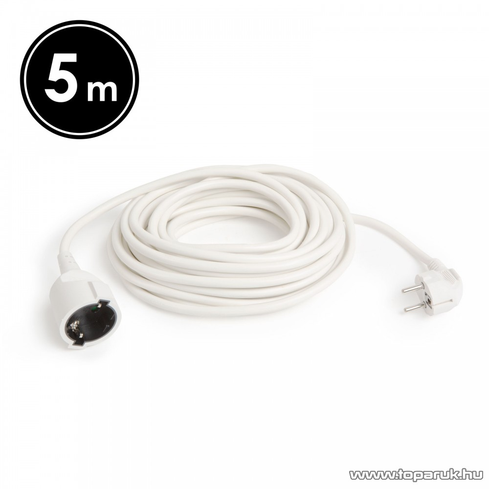 Hálózati lengő hosszabbító, 5 m (20503WH)
