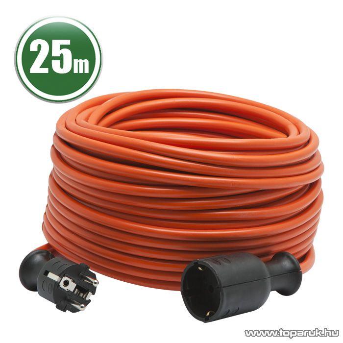 Hálózati lengő hosszabbító, fűnyíró kábel, narancssárga, 25 m (20510OR)