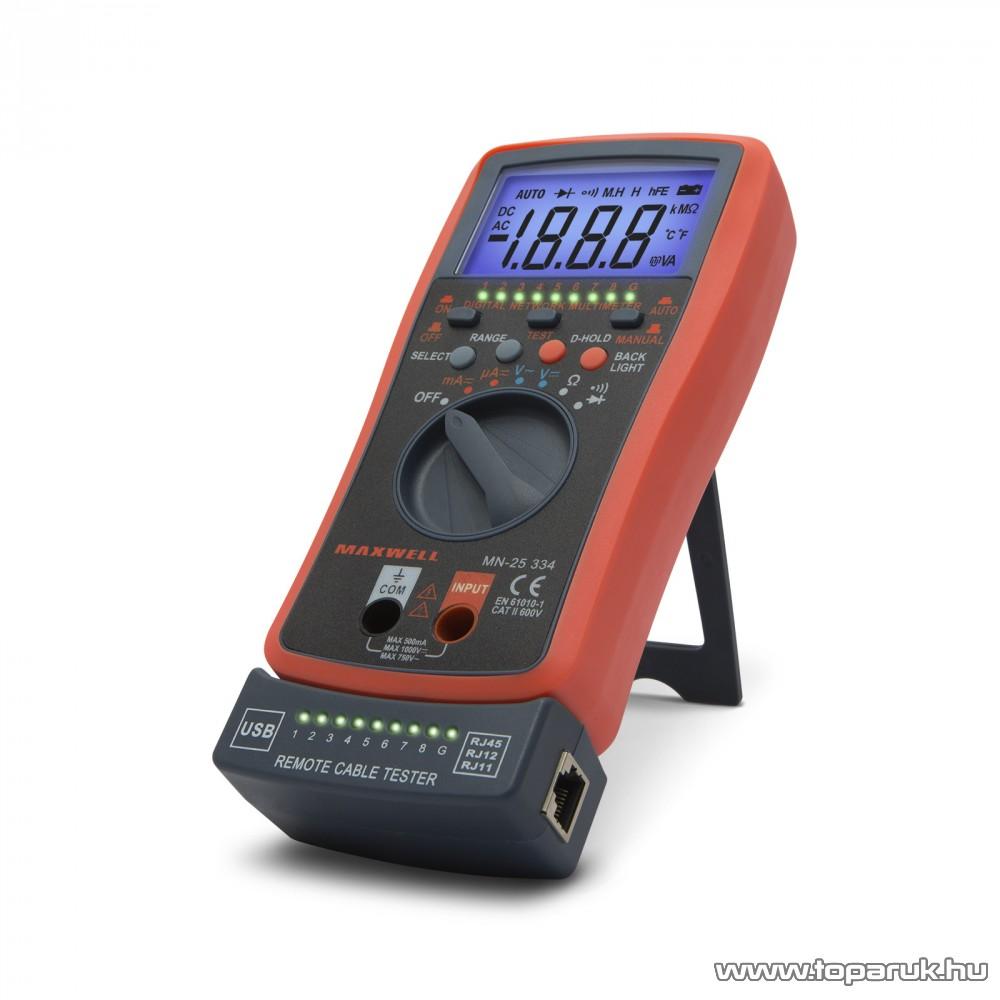 Maxwell MX-25 334 Digitális multiméter automata kábel teszterrel (25334)