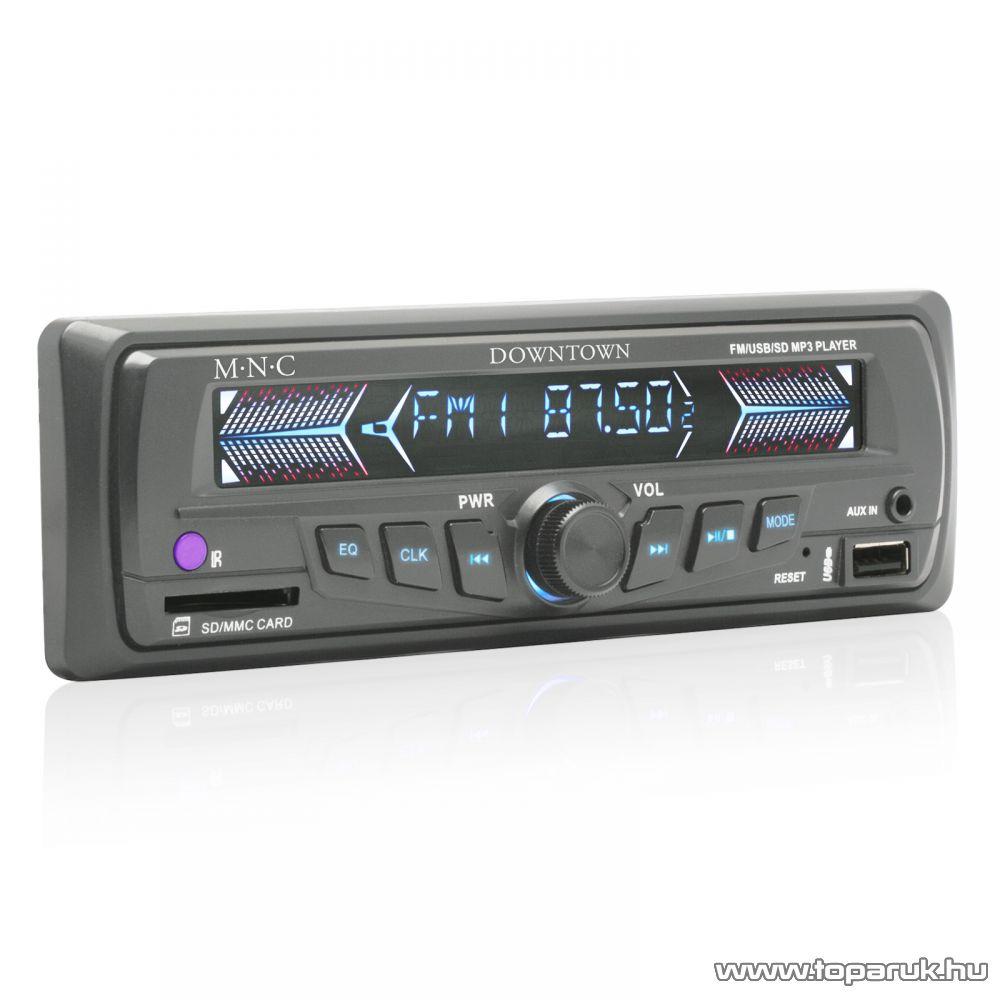 M.N.C Downtown INNOCD MP3-as autórádió fejegység USB/SD/MMC kártyaolvasóval, szürke (39710GY)