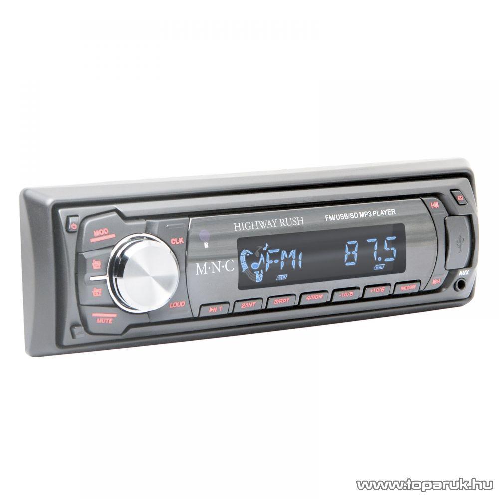 M.N.C Highway Rush INNOCD MP3-as autórádió fejegység USB/SD/MMC kártyaolvasóval, szürke (39711GY)