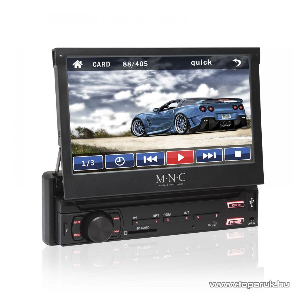 M.N.C ROAD MOVIE MP3-as érintő kijelzős autórádió LCD kijelzővel, USB/SD/MMC bemenettel, fekete (39714)