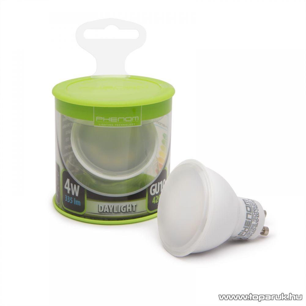 Phenom Led-es energiatakarékos izzó, 4W-os, GU10 foglalatba, meleg fehér fényű (40020W)
