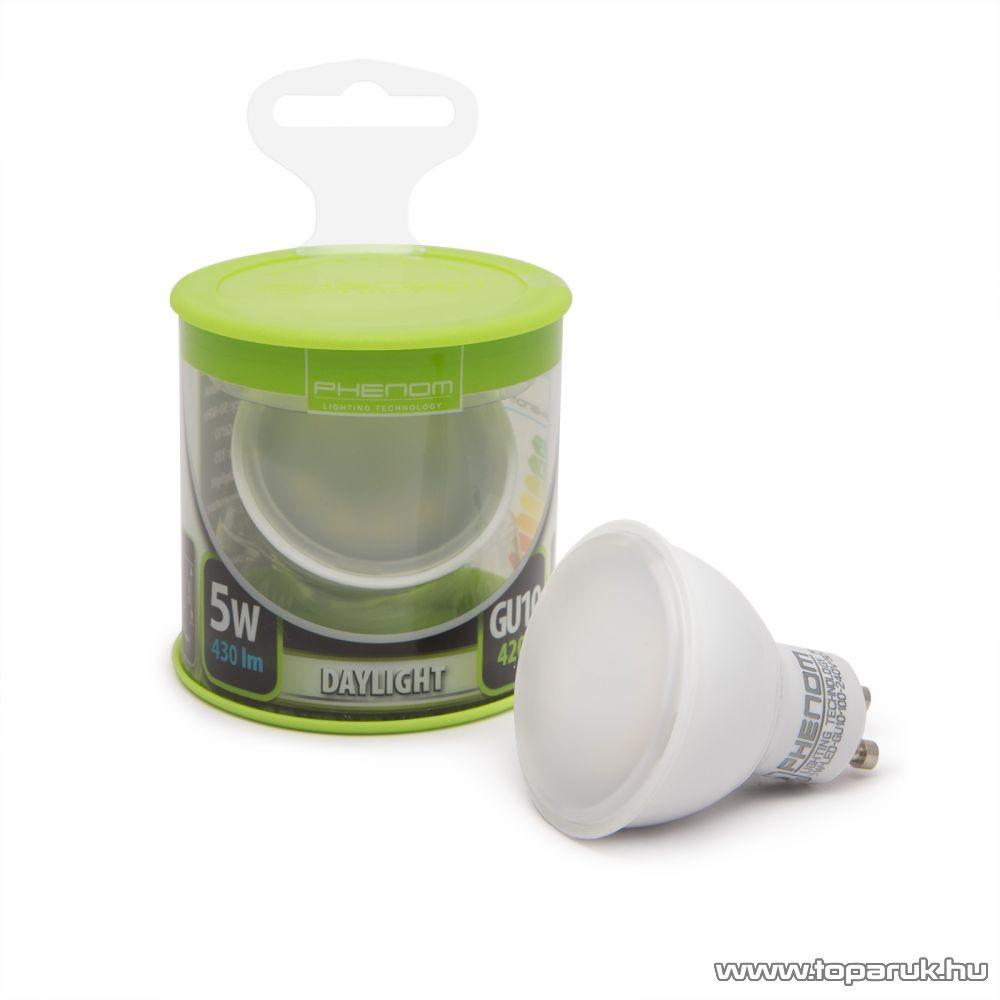 Phenom Led-es energiatakarékos izzó, 5W-os, GU10 foglalatba, meleg fehér fényű (40021W)