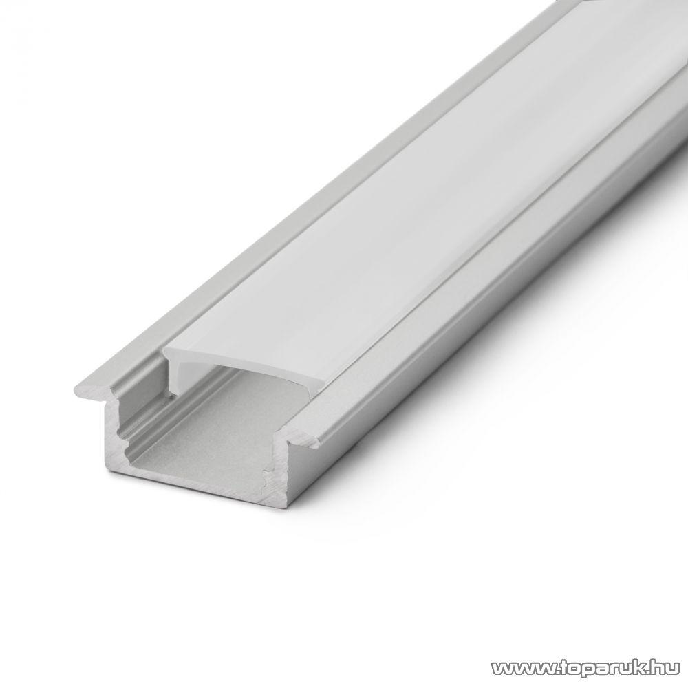 Phenom 41011M1 LED aluminium profil takaró búra a 41011A1 típusú profil sínhez, opál, 1000 mm hosszú