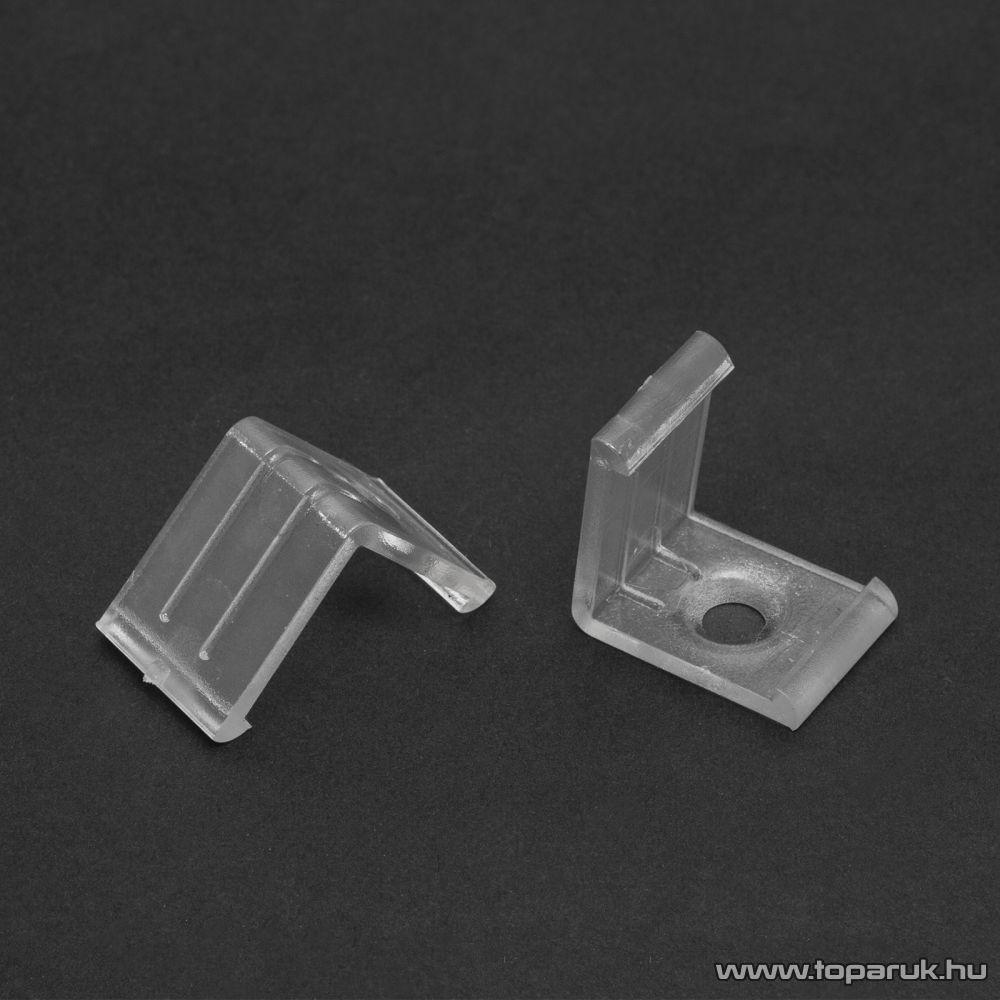 Phenom 41012C műanyag profil rögzítő elem a 41012 típusú sínhez, átlátszó, 1 pár (2 db / csomag)