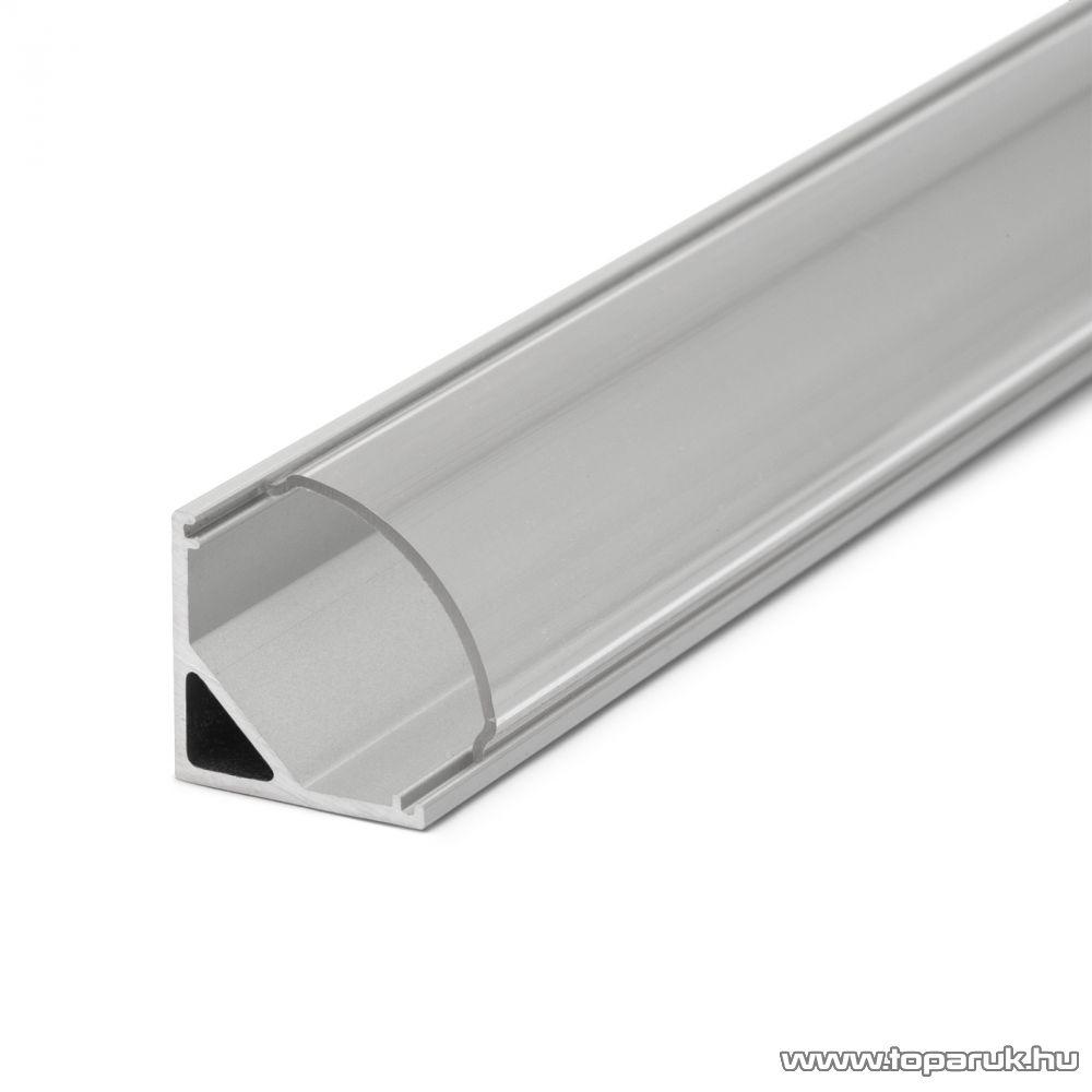 Phenom 41012T1 LED aluminium profil takaró búra a 41012A1 típusú profil sínhez, átlátszó, 1000 mm hosszú