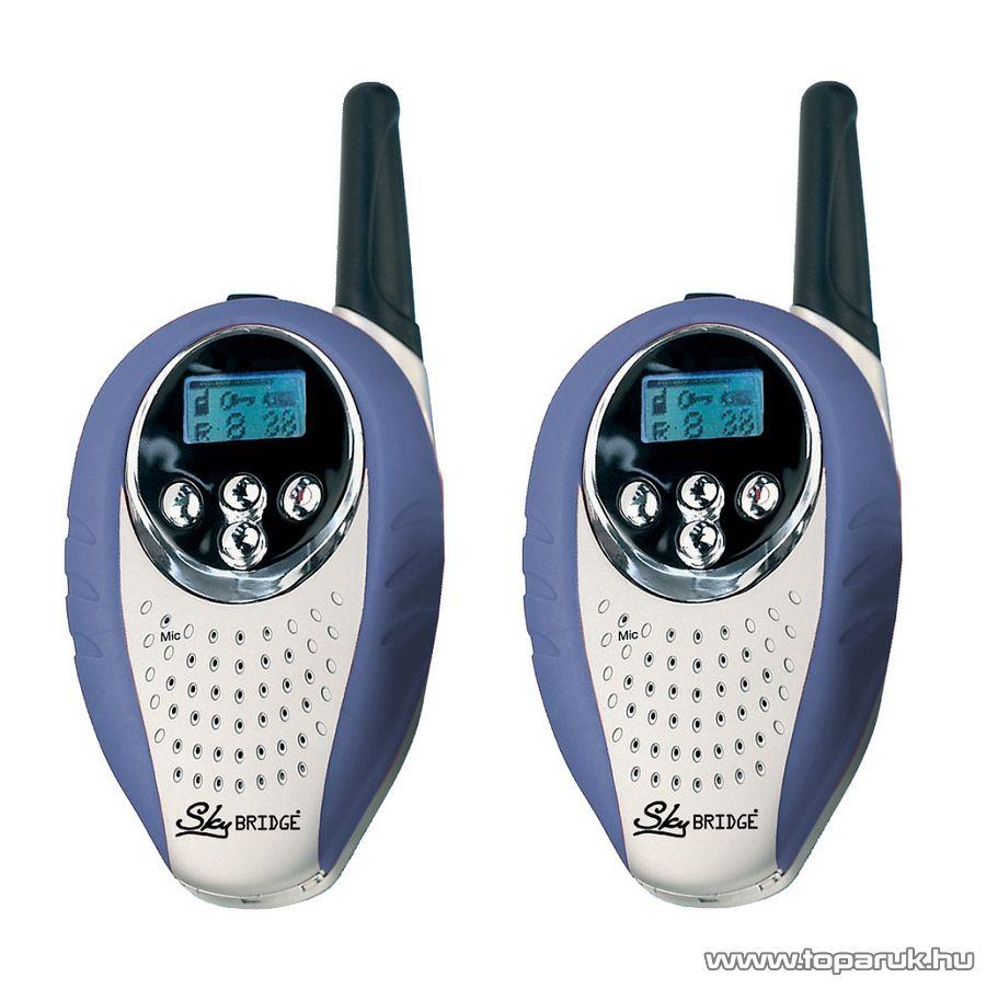 Sky BRIDGE walkie-talkie adó vevő készülék, kék-ezüst, 3 km-es hatótávolság (52003) - megszűnt termék: 2015. május
