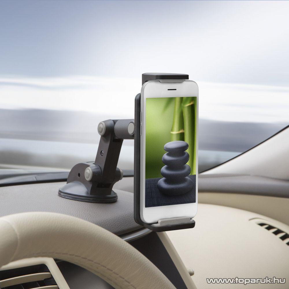 delight Univerzális autós telefon tartó, tablet tartó, szürke (55029GY)