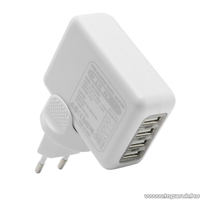 delight Univerzális utazó adapter 4 USB ajzattal és cserélhető AC dugóval (55042) - készlethiány
