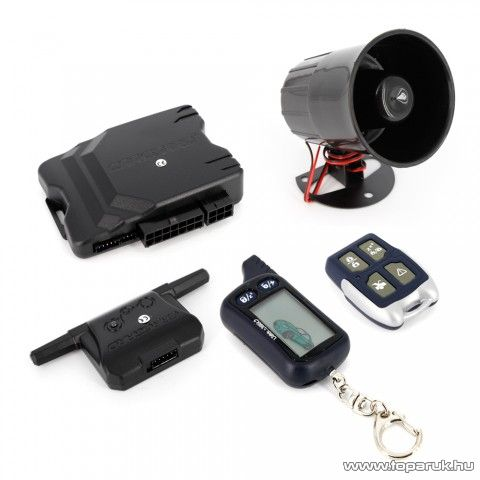 Carguard G7050 LCD távirányítós professzionális autóriasztó szett (55070-3)