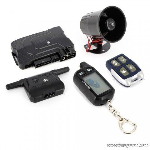 Carguard G2500 LCD távirányítós professzionális autóriasztó szett (55070-4)