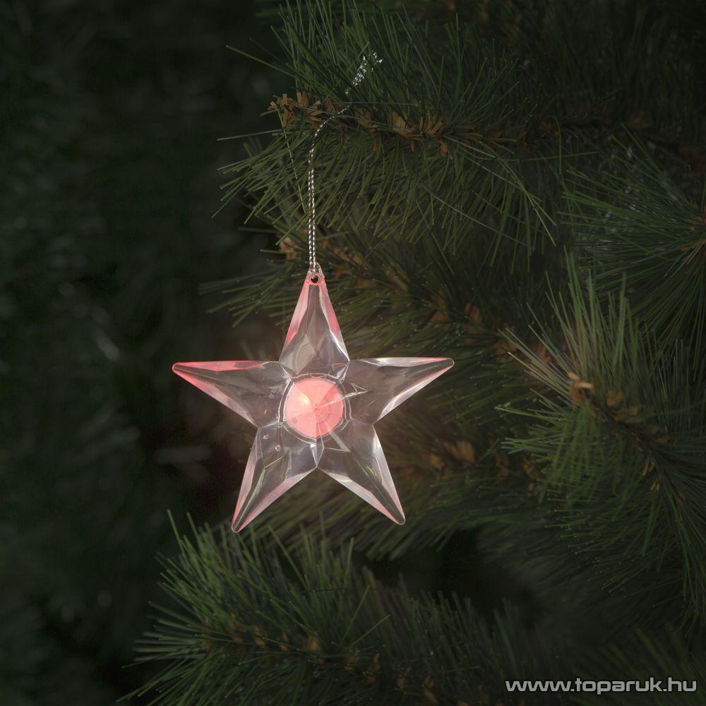 Design Dekor 55255 Beltéri elemes, LED-es akril csillag dísz, 8 cm
