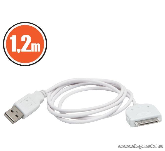 iPhone, iPod, iPad USB adat és töltőkábel, 1,2 m (55420) - megszűnt termék: 2014. október