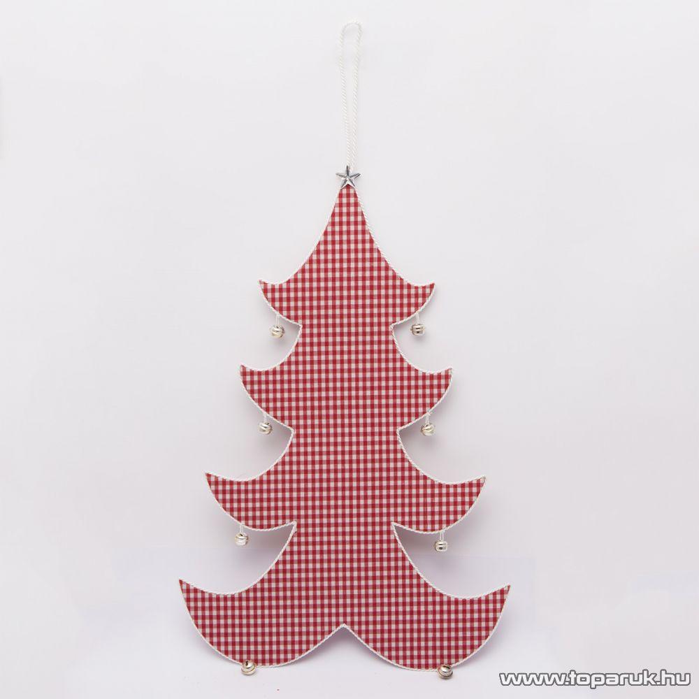 Karácsonyi dekorációs fenyőfa ajtó és ablakdísz csengővel, 40 cm