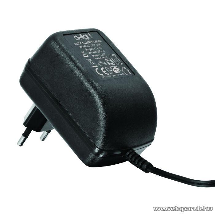 Delight Fix feszültségű hálózati adapter, 12V DC, 300mA (55031)