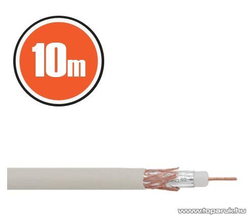 Delight Koax kábel, RG 6, 75 ohm, fehér, 10 m / tekercs (NX20035x10)