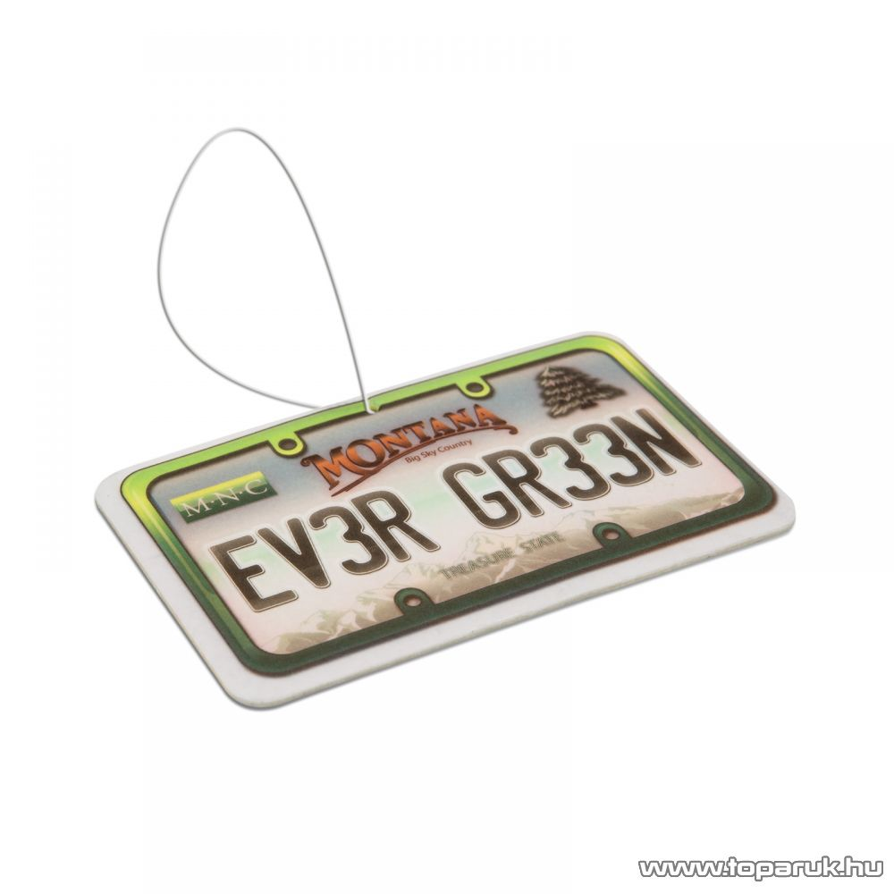 Autó illatosító (USA államok rendszámtábláját mintázó autóillatosító), Ever green