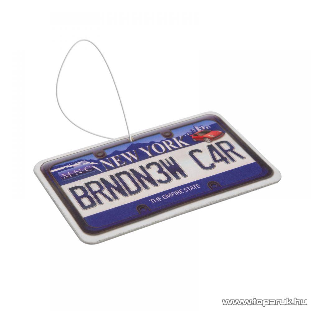 Autó illatosító (USA államok rendszámtábláját mintázó autóillatosító), New car