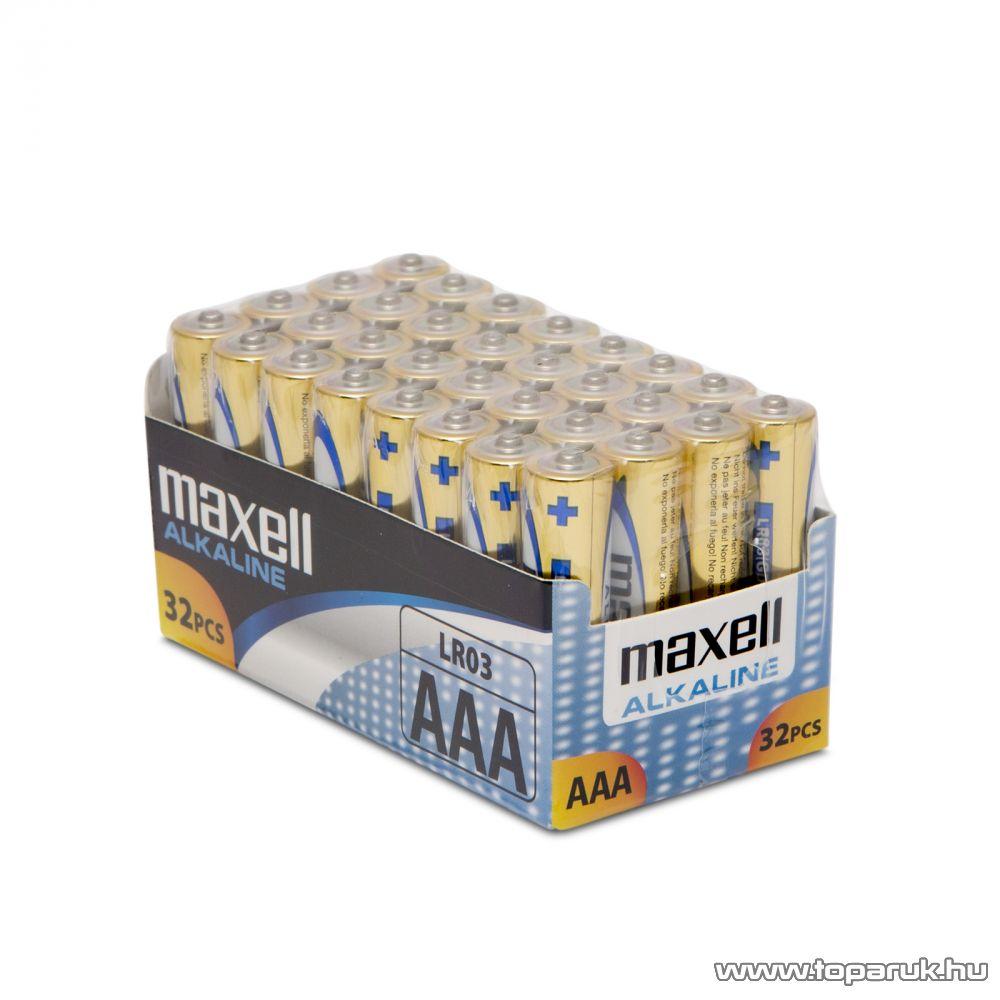 Maxell 18721S Power Pack Mikro ceruza elem, 1,5V, (AAA, LR3 méret), 32 db / csomag
