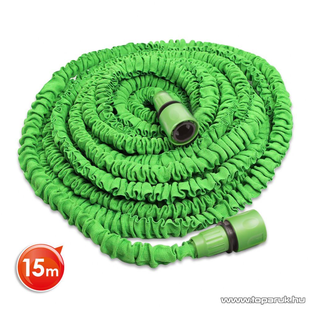 Flexibilis locsolótömlő, locsoló cső, 15 m hosszú + ajándék adapterek