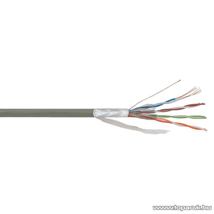 delight 20046 FTP PATCH kábel Cat.5e vezeték, sodrott belső erek árnyékolt, 305 m/doboz