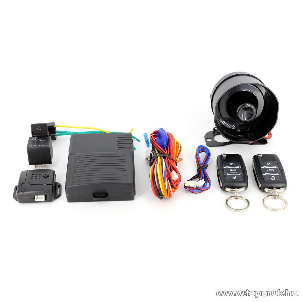 delight Távirányítós autós riasztórendszer központizár vezérlő szettel (55076B)