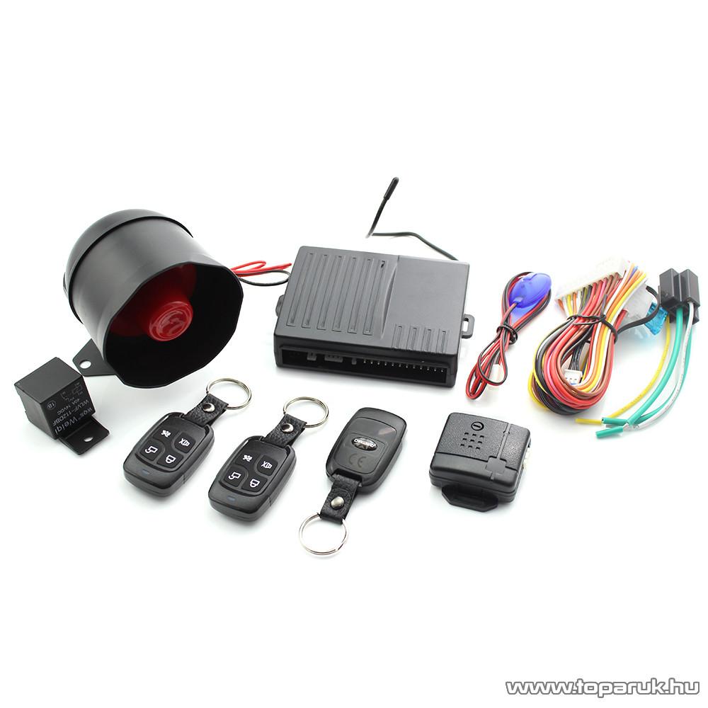 delight Távirányítós autós riasztórendszer központizár vezérlő szettel (55076M)