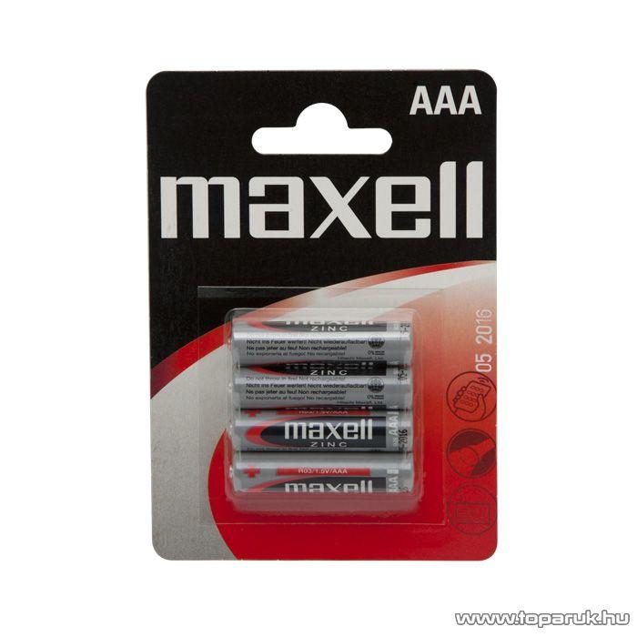 maxell Féltartoós mikroceruza elem, AAA, R03 Zn, 1,5V, 2 db / csomag (18711B)