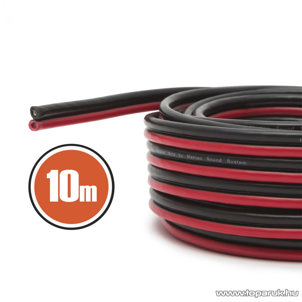 MNC Hangszórókábel 2 x 0,75 mm2, hosszúsága 10 m (NX20083x10)