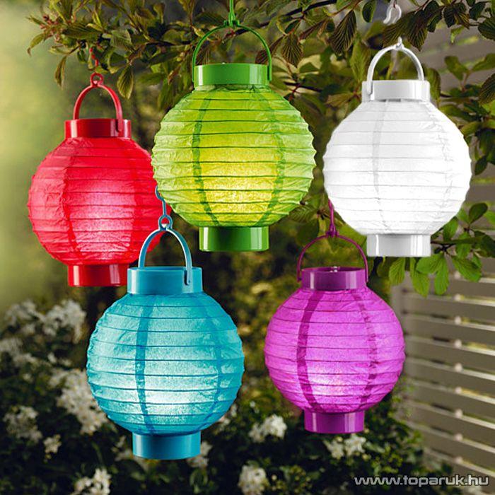 delight  LED-es kültéri kerti lampion, 1 LED, piros színű (11399RD) - készlethiány