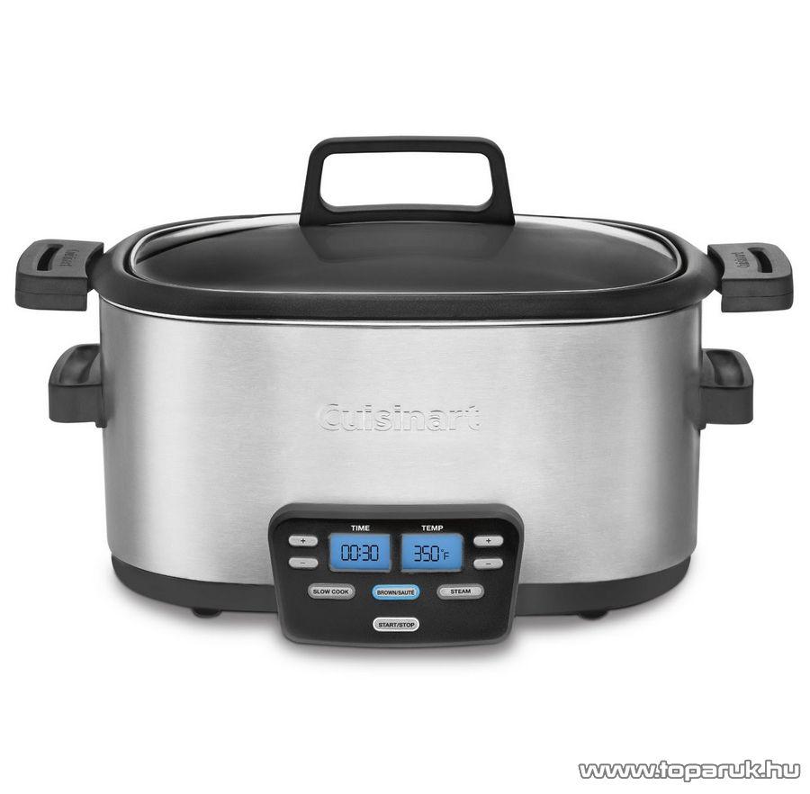 Cuisinart MSC600E Elektromos multifunkcionális inox lassú főző, 5,7 literes