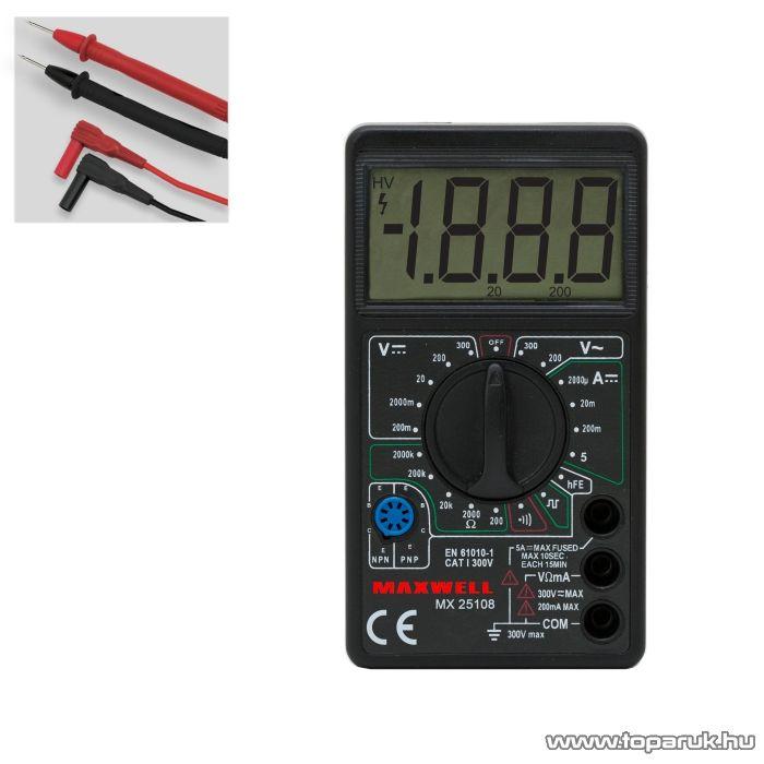 Maxwell MX-25 108 Digitális multiméter TTL logikai teszt funkcióval (25108)
