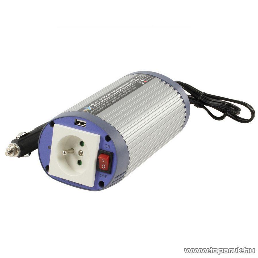 HQ Autós feszültség átalakító, inverter, 150 W, 24 - 230 V (HQ-INV150WU-24)