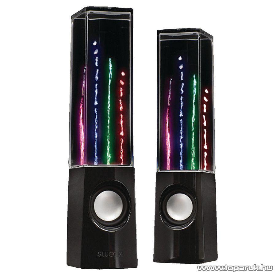 Sweex Hordozható Víz-tánc hangszóró, 2.0 (SW20WDSPS100BL)
