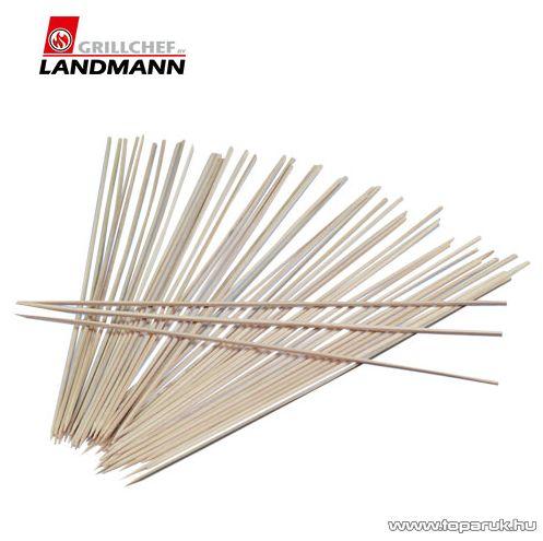 Landmann 0245 Bambuszból készült prémium hosszú saslikpálca, fa nyárs, 30 cm-es