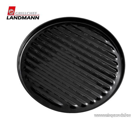 Landmann 0256 Zománcozott kerek grilltálca, 45 cm