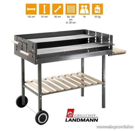 Landmann 0439 Faszenes party grillkocsi (18 személyes) - készlethiány