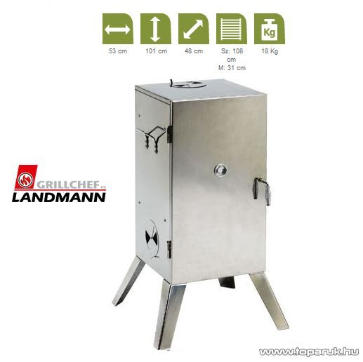 Landmann 11090 Rozsdamentes acél füstölő szekrény