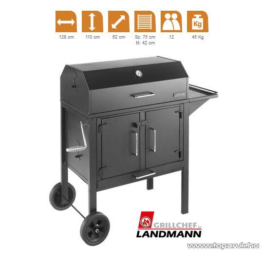 Landmann 11421 Black Dog faszenes fedeles party grillkocsi amerikai stílusú BBQ élményhez (12 személyes) - megszűnt termék: 2014. április