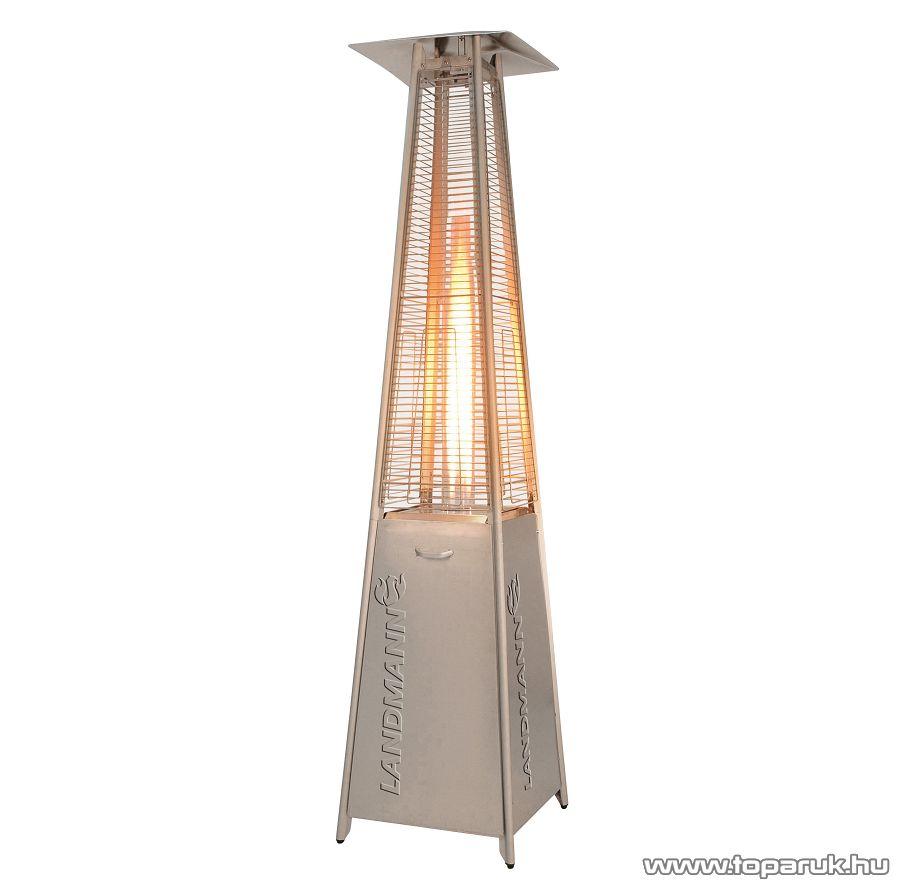Landmann 12020 Heat Star Kültéri, gázzal működő rozsdamentes acél kivitelű teraszhősugárzó piramis - készlethiány