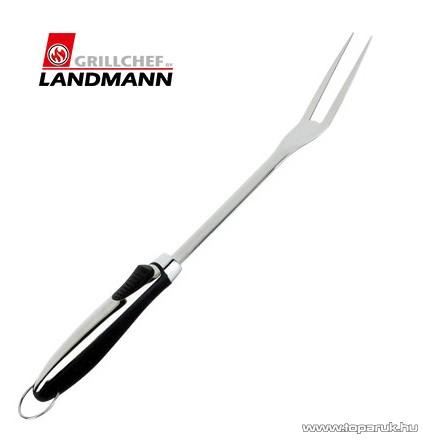 Landmann 13424 INOX Időtálló rozsdamentes acél kivitelű grill húsvilla, 47 cm