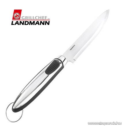 Landmann 13426 INOX Időtálló rozsdamentes acél kivitelű grill kés, 37.5 cm